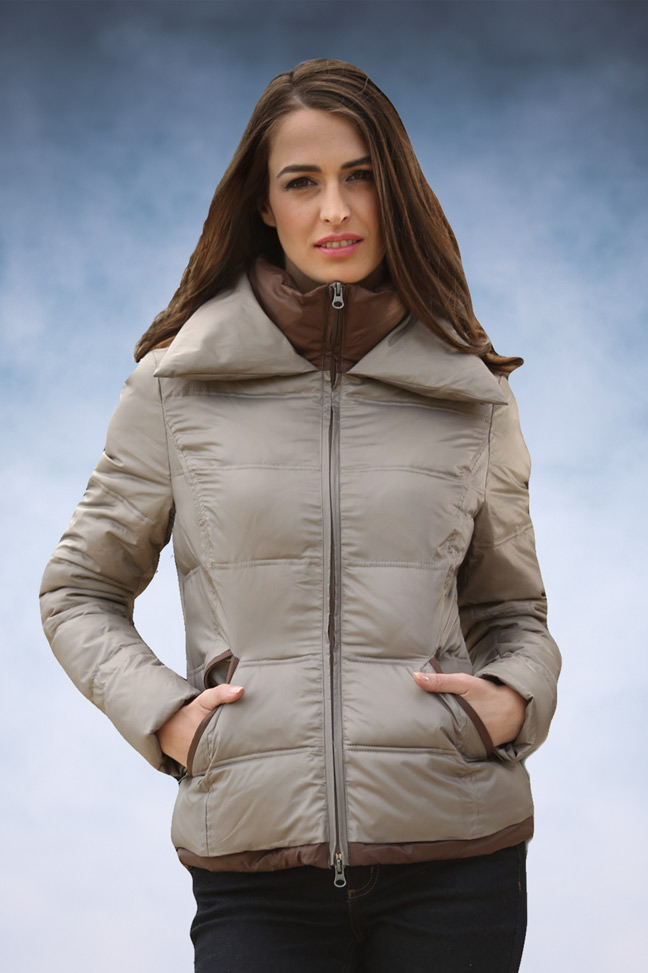 Ženska zimska jakna - Sportska i Casual - Staff Nina - Bež 2