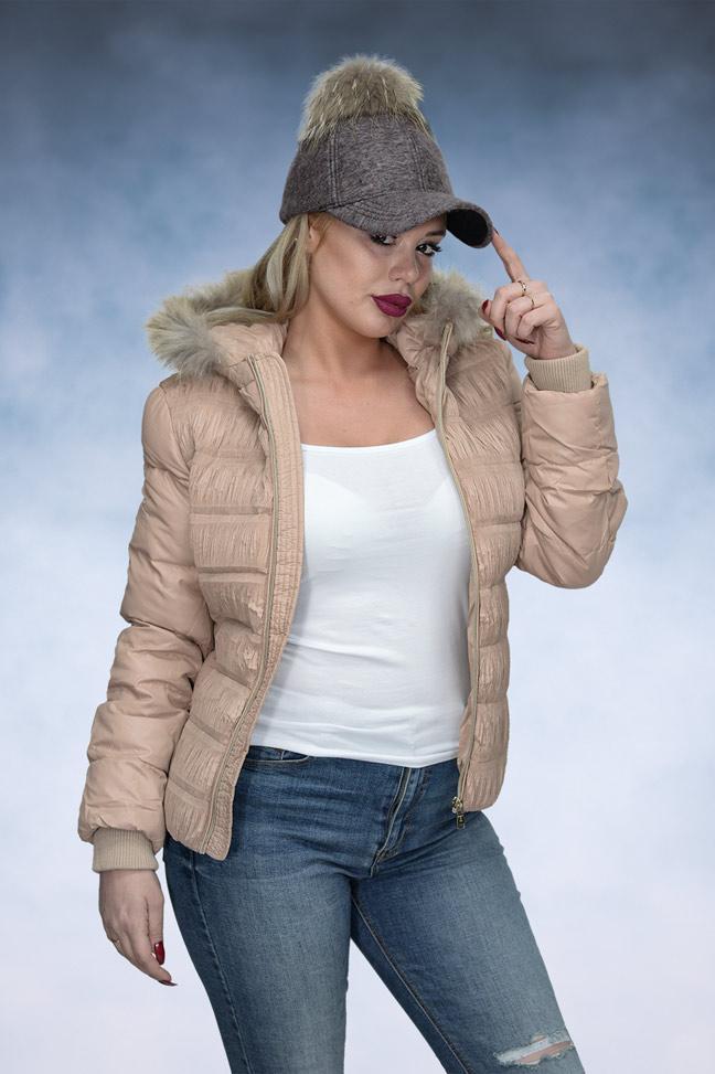Ženska zimska jakna - Sportska i Casual - STAFF ONLY 013 - Krem