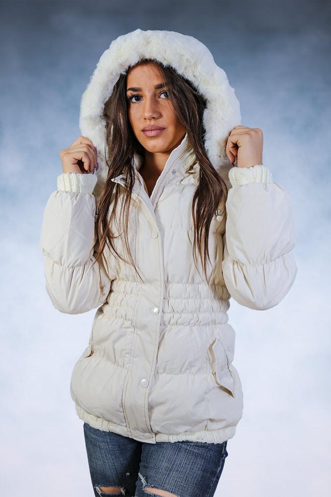 Ženska zimska jakna - Sportska i Casual - STAFF Sara - Bela
