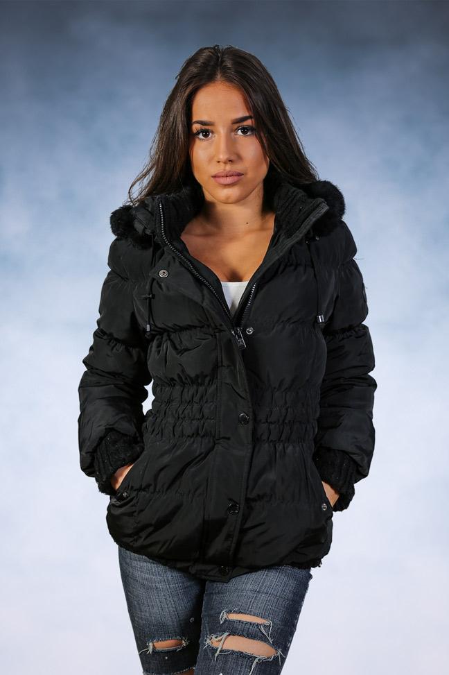 Ženska zimska jakna - Sportska i Casual - STAFF Sara - Crna