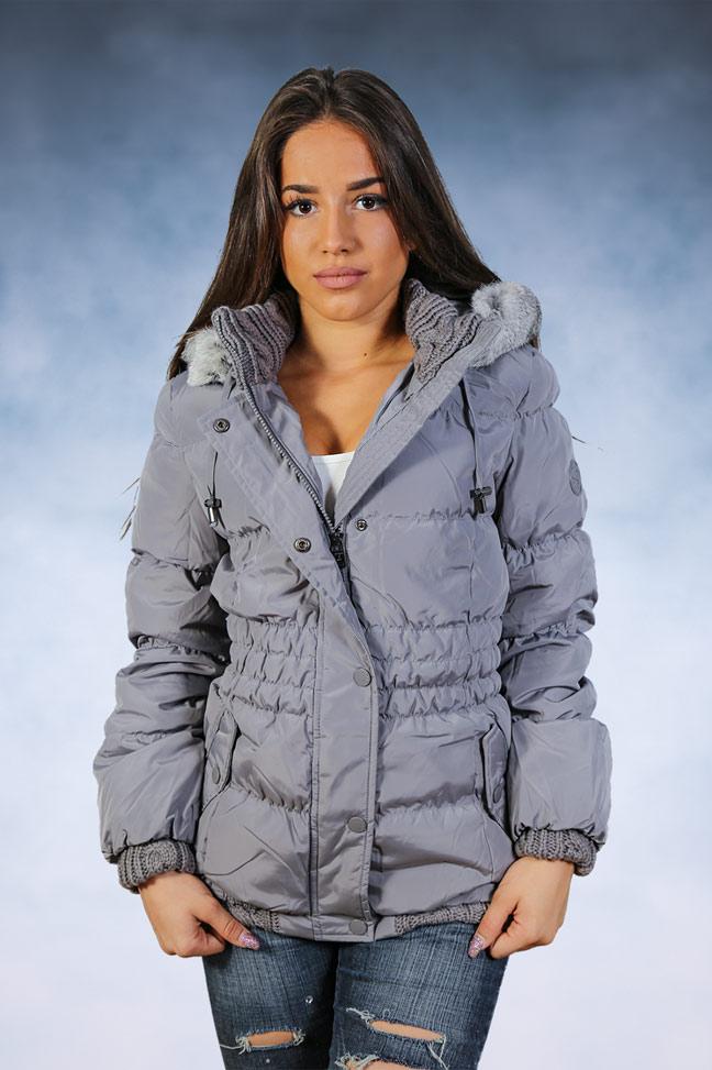 Ženska zimska jakna - Sportska i Casual - STAFF Sara - Siva