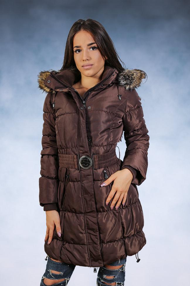 Ženska zimska jakna - Sportska i Casual - STAFF Snow - Braon