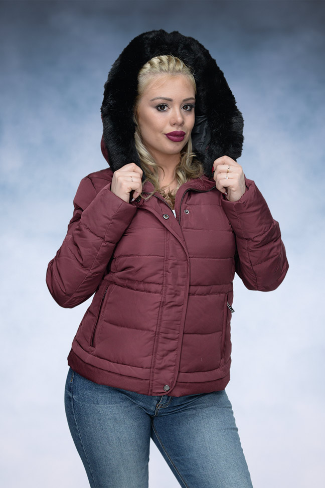 Ženska zimska jakna - Sportska i Casual - STAFF Stella - Bordo