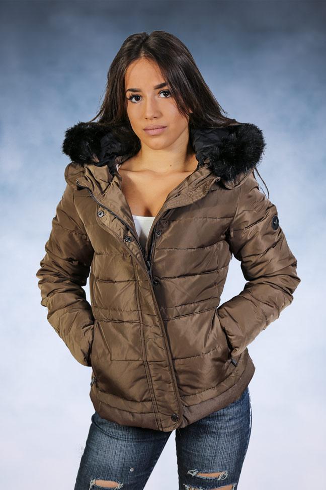 Ženska zimska jakna - Sportska i Casual - STAFF Stella- Braon