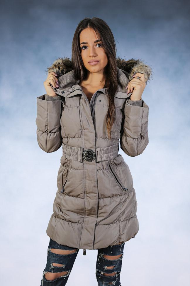 Ženska zimska jakna - Sportska i Casual - STAFF Snow - Siva