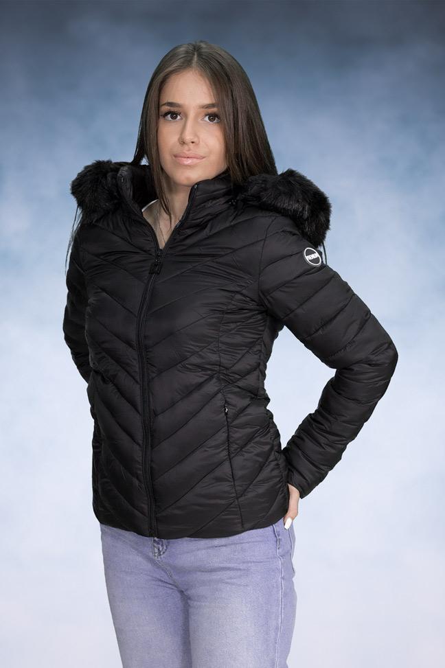 Ženska zimska jakna - Sportska i Casual - Yes Pink 1201-1 Crna