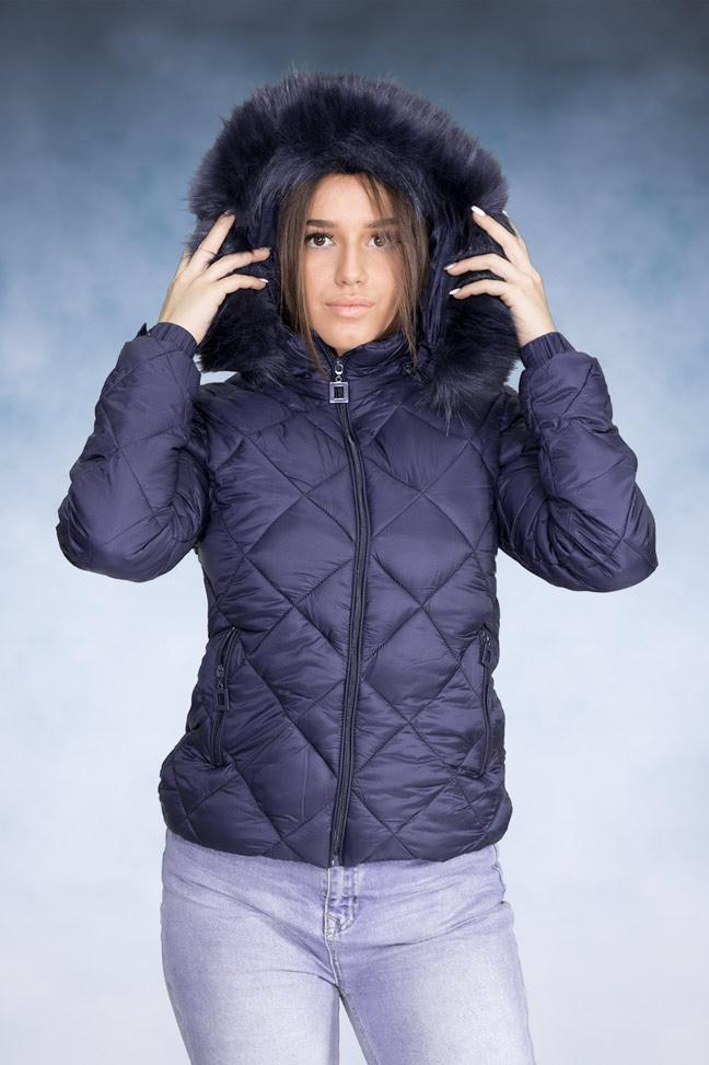 Ženska zimska jakna - Sportska i Casual - Yes Pink 1202-2 Teget