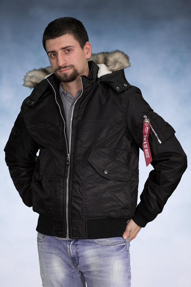 Muška zimska bomber jakna - 4270 - Crna