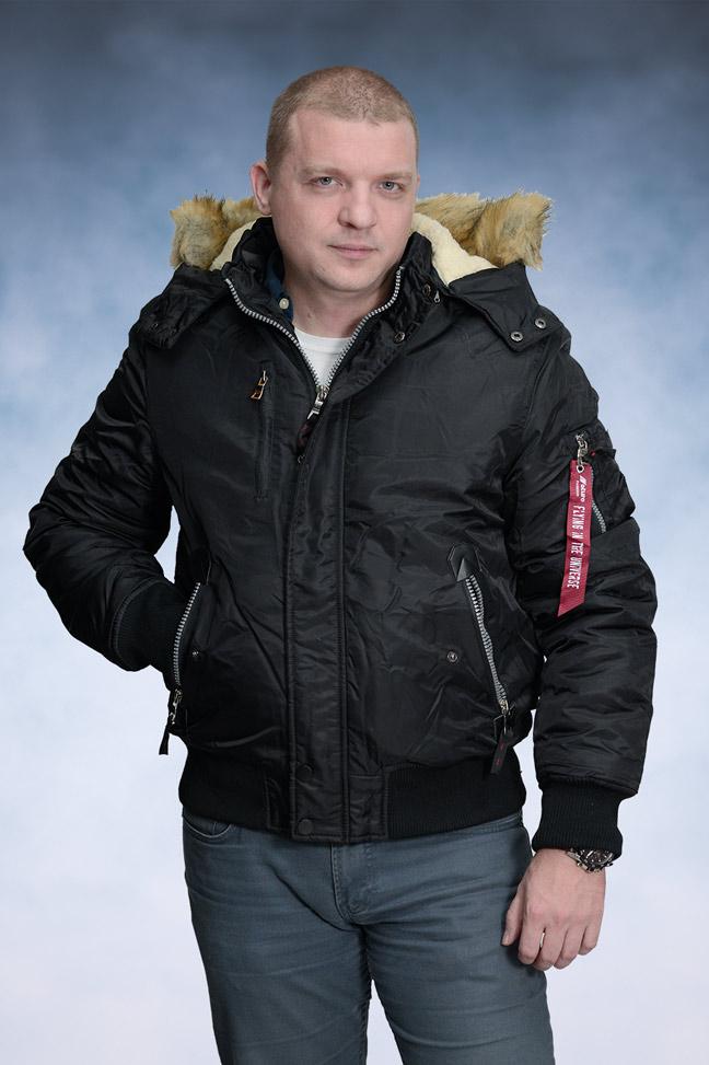 Muška zimska bomber jakna - 4271 - Crna