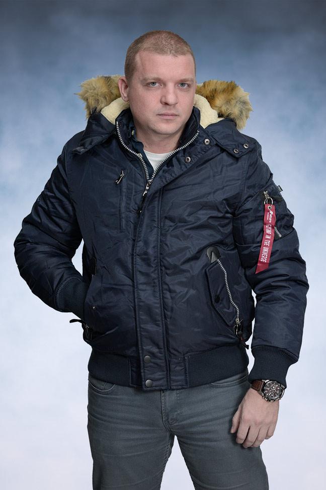 Muška zimska jakna - Bomber/Fajerka - 4271 Fajerka - Teget