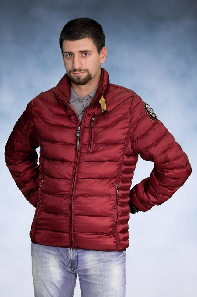 Muška zimska jakna - Sportska i Casual - 508 - Bordo