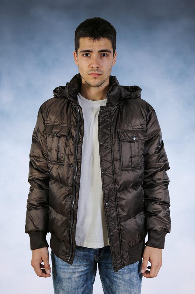 Muška zimska jakna - Sportska i Casual - Staff 012 - Braon