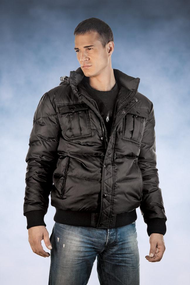 Muška zimska jakna - Sportska i Casual - Staff 012 - Crna