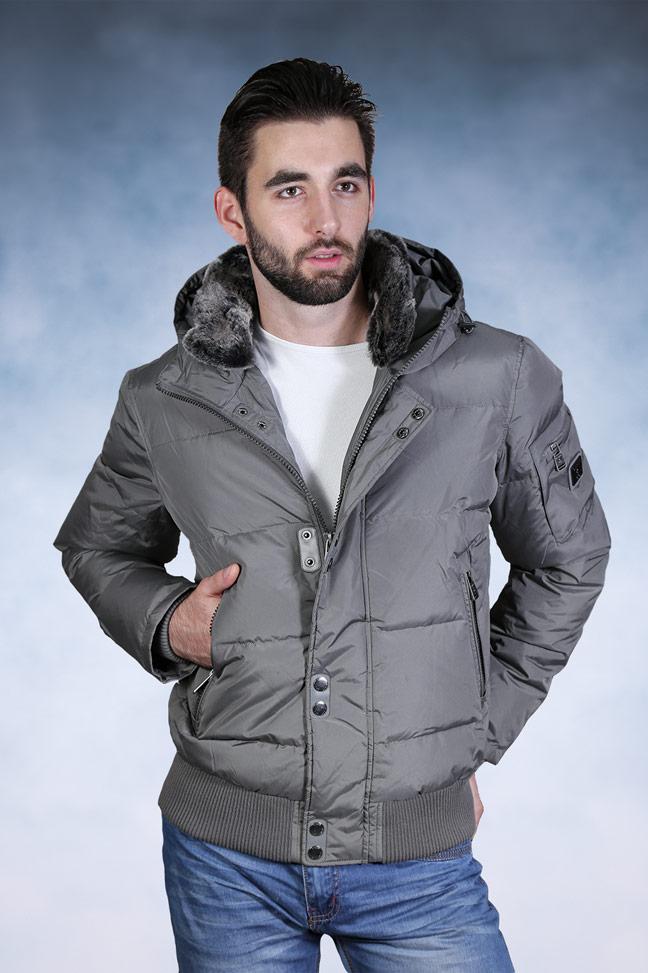 Muška zimska jakna - Sportska i Casual - Staff 013 - Siva
