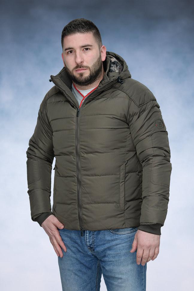Muška zimska jakna - Sportska i Casual - Staff Gabriel - Braon