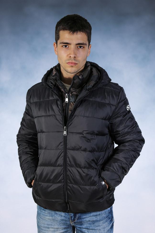 Muška zimska jakna - Sportska i Casual - STAFF Tom - Crna 1