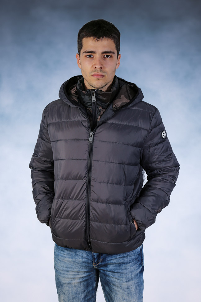 Muška zimska jakna - Sportska i Casual - Staff Tom - Siva