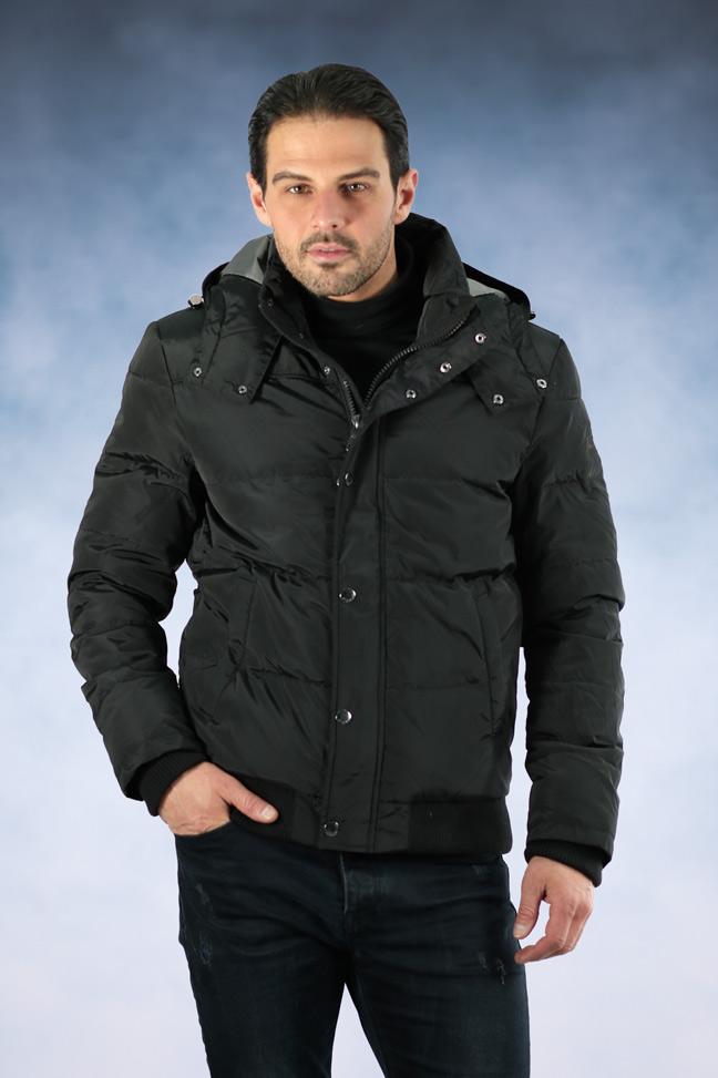 Muška zimska jakna - Sportska i Casual - Staff Viliam - Crna