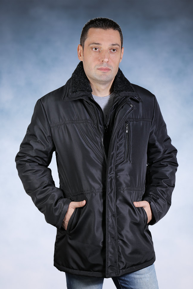 Muška zimska jakna - Sportska i Casual - TM-31 - Crna