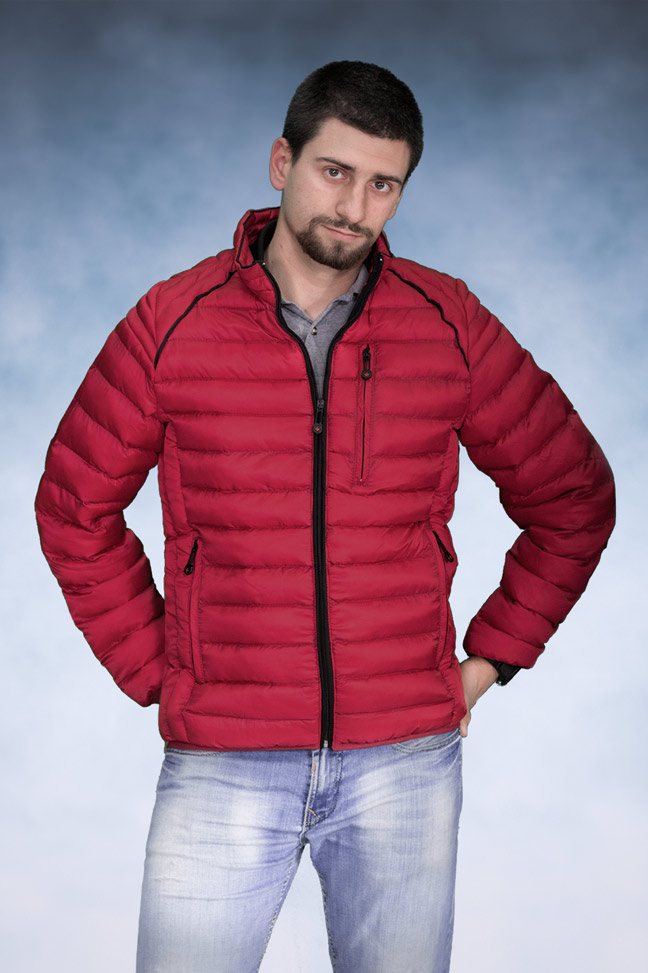 Muška zimska jakna - Sportska i Casual - Velenstain 513 - Crvena