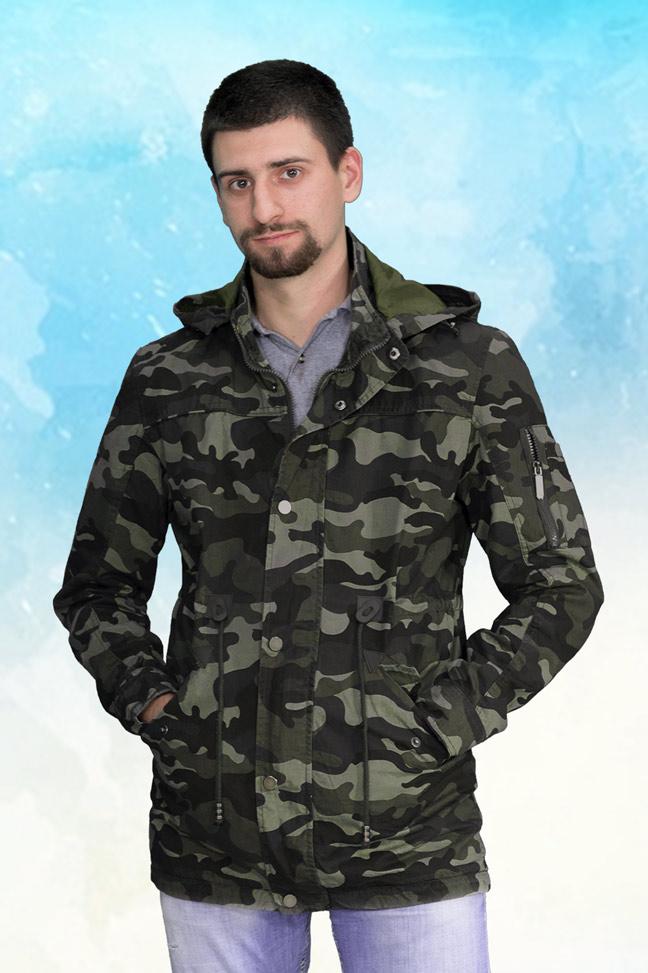 Muška prolećna jakna - Parka - ALN 72520 - Maskirna zelena