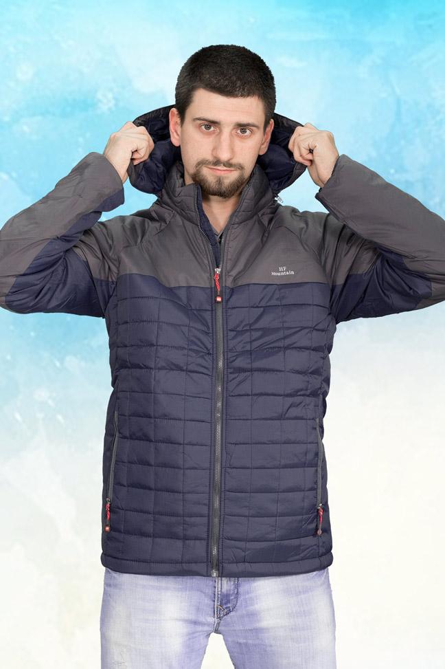 Muška prolećna jakna - Sportska i Casual - HF K-017 - Teget