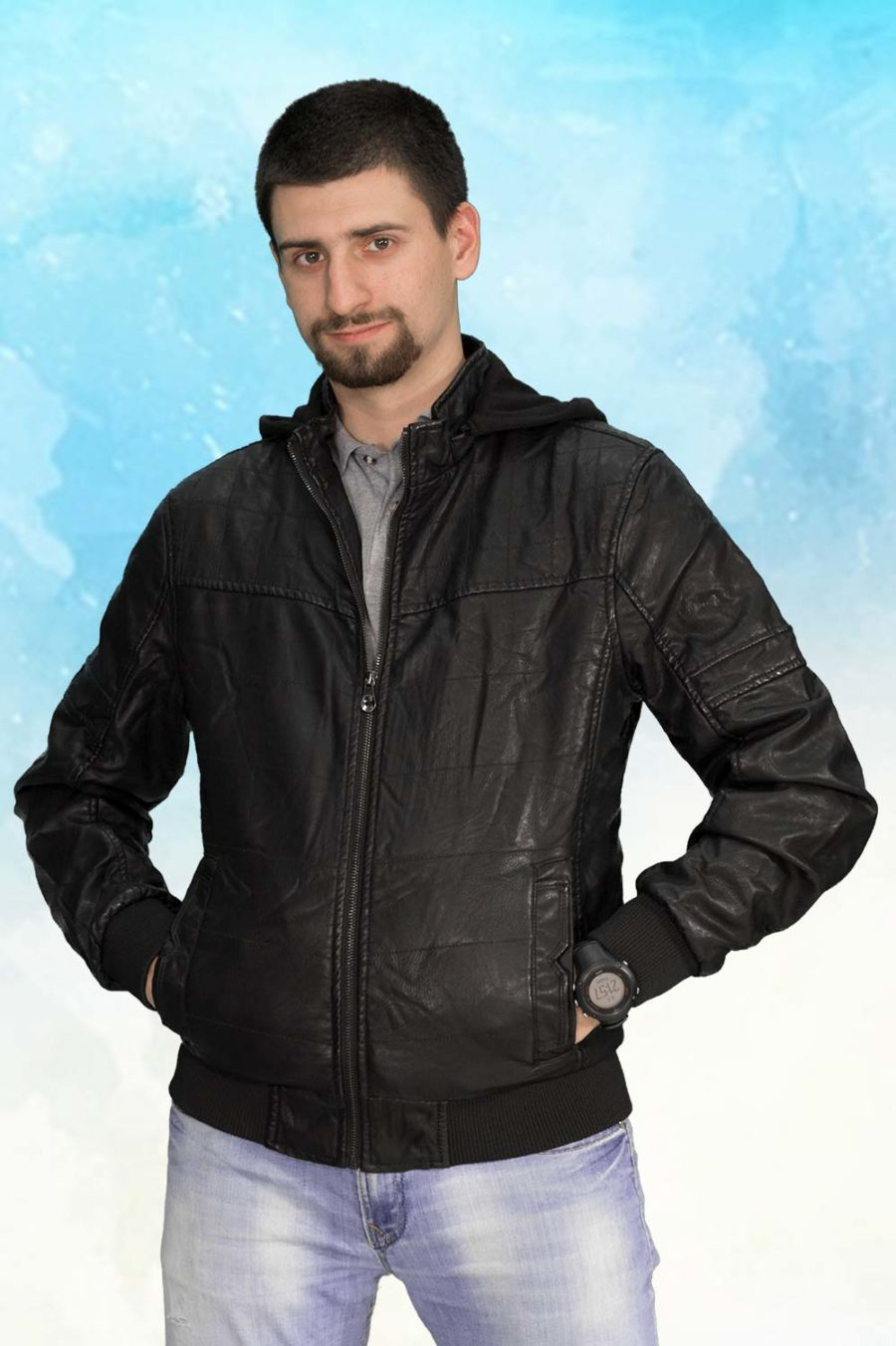 Muška prolećna jakna - Sportska i Casual - ALN 52156 - Crna