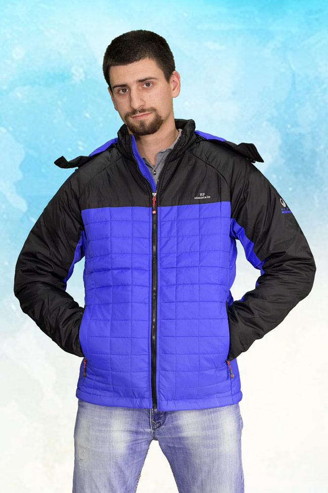 Muška prolećna jakna - Sportska i Casual - HF K-017 - Plava