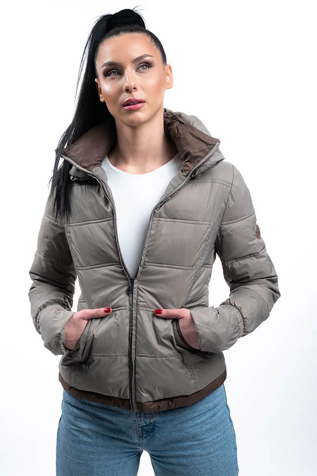 Ženska zimska jakna - Sportska i Casual - Staff Nina - Bež