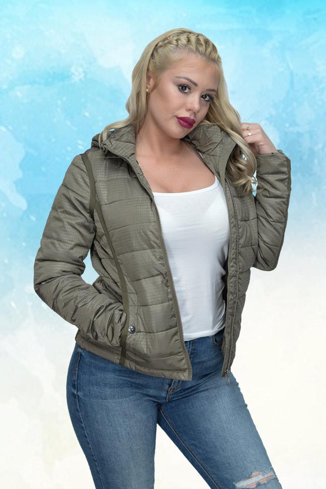 Ženska prolećna jakna – Sportska i Casual – Staff Robin – Maslinasto zelena