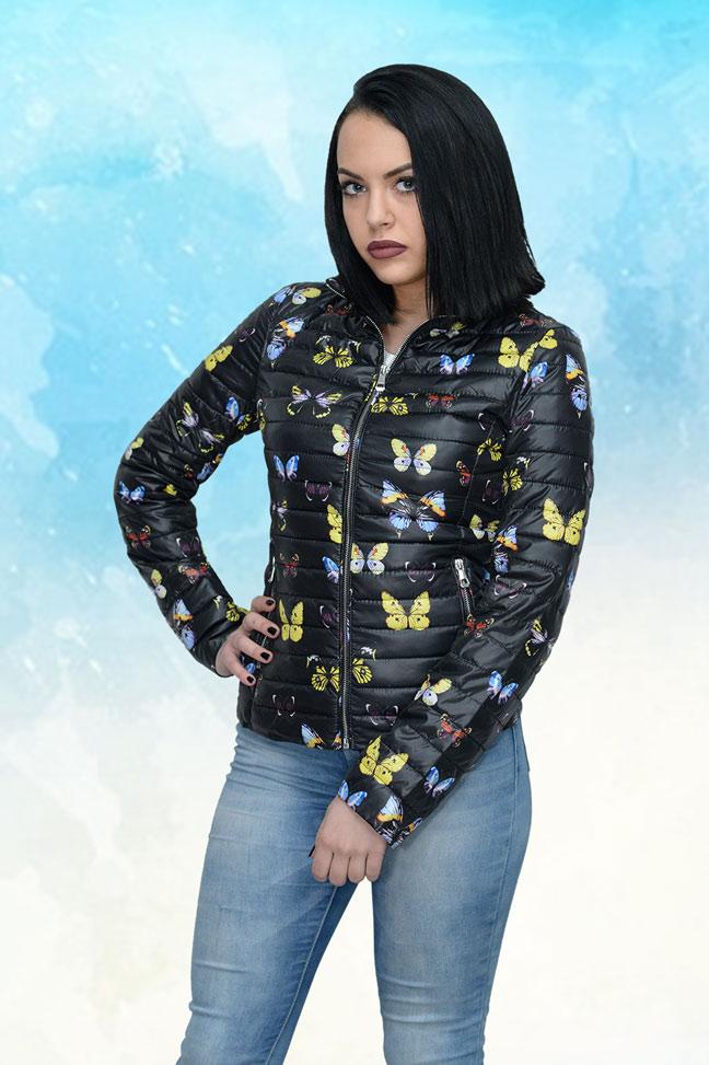 Ženska prolećna jakna - Sportska i Casual - Glamour 883 - Crna