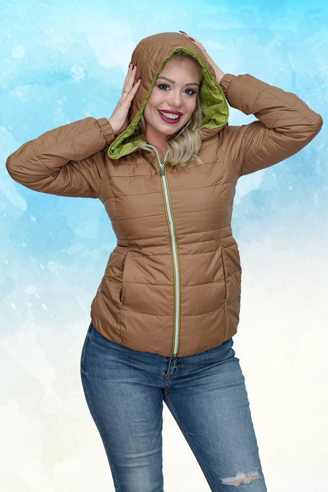 Ženska prolećna jakna - Sportska i Casual - Staff PIA - Braon