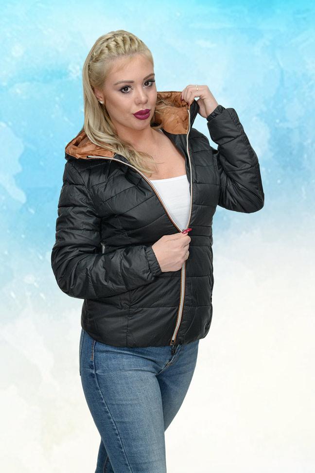 Ženska prolećna jakna - Sportska i Casual - Staff PIA - Crna