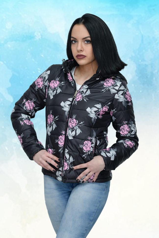 Ženska prolećna jakna - Sportska i Casual - 4181 - Crna