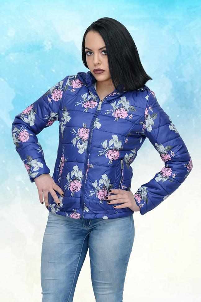 Ženska prolećna jakna - Sportska i Casual - 4181 - Purpurno Plava