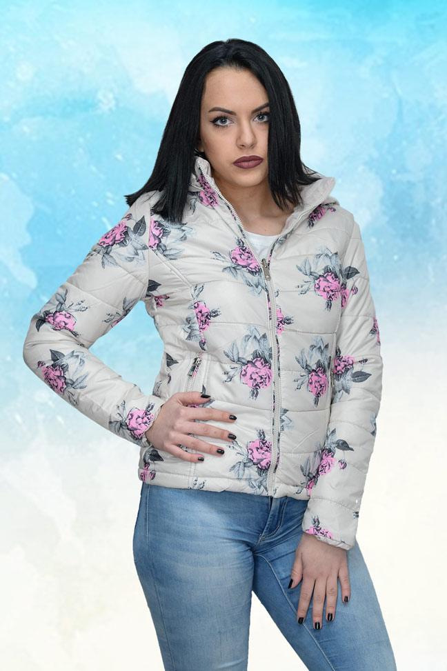 Ženska prolećna jakna - Sportska i Casual - 4181 - Svetlo Bež
