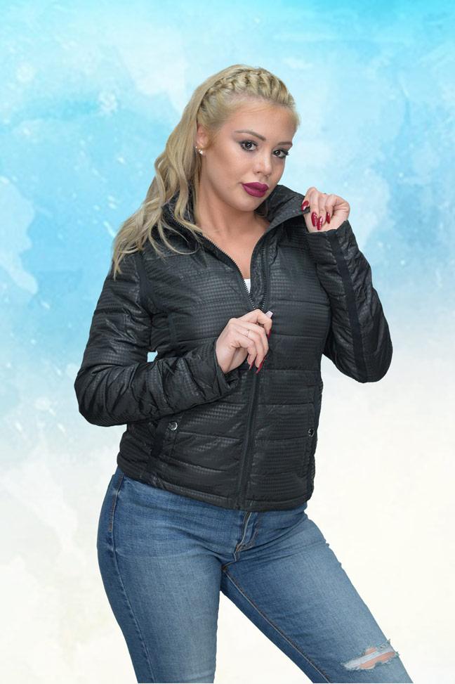 Ženska prolećna jakna - Sportska i Casual -Staff Robin - Crna