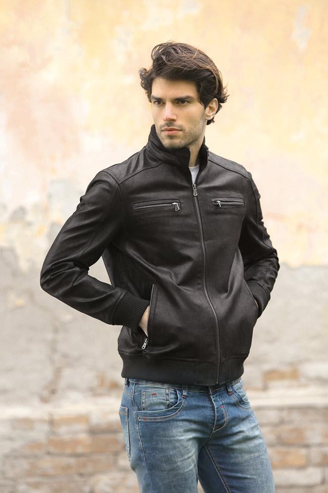 Muška kožna jakna - Fratteli Ted - Crna