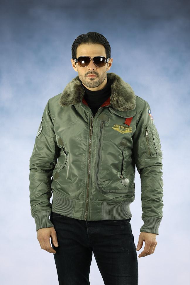 Muška zimska bomber jakna - Staff Irvin - Maslinasto zelena