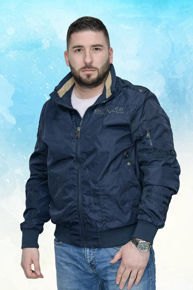 Muška prolećna jakna – Sportska i Casual – Staff 2125-6103 – Teget
