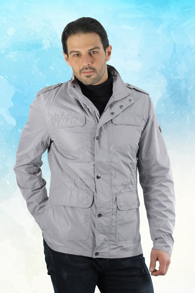 Muška prolećna jakna – Sportska i Casual – Staff Boston – Siva