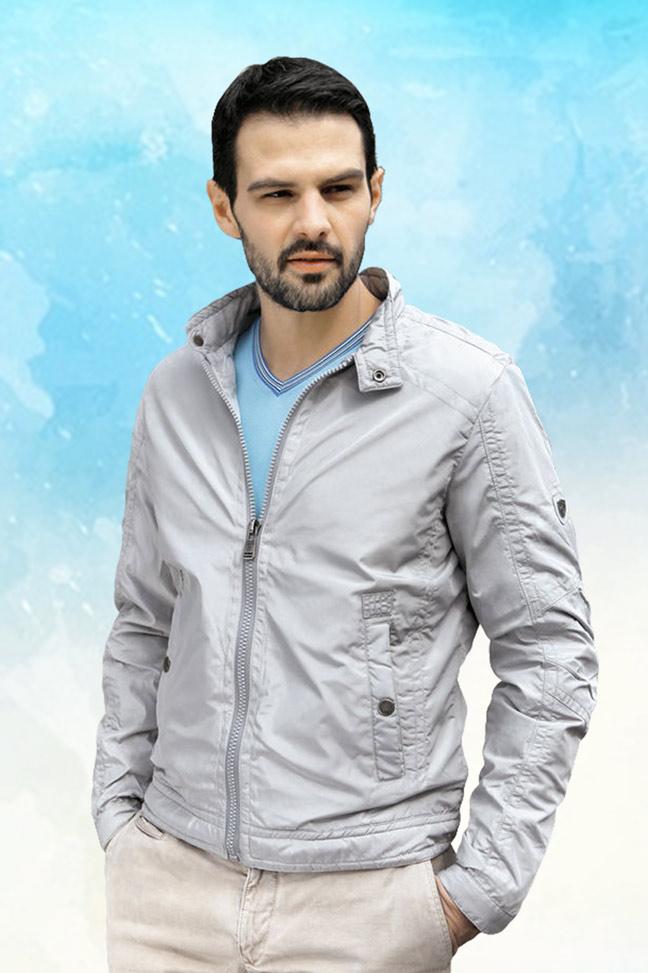 Muška prolećna jakna – Sportska i Casual – Staff GQ12 – Siva