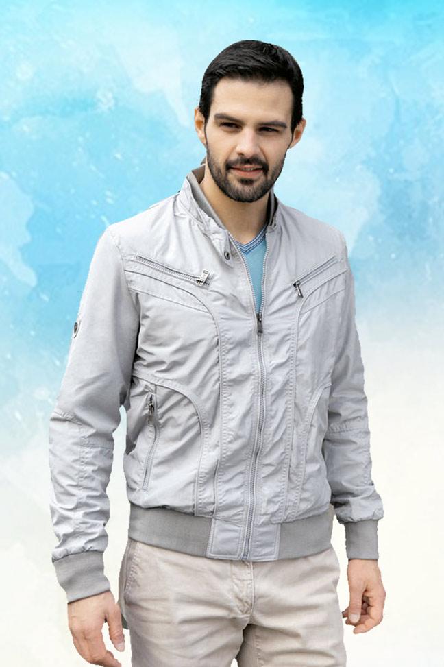 Muška prolećna jakna – Sportska i Casual – Staff SL720 – Siva