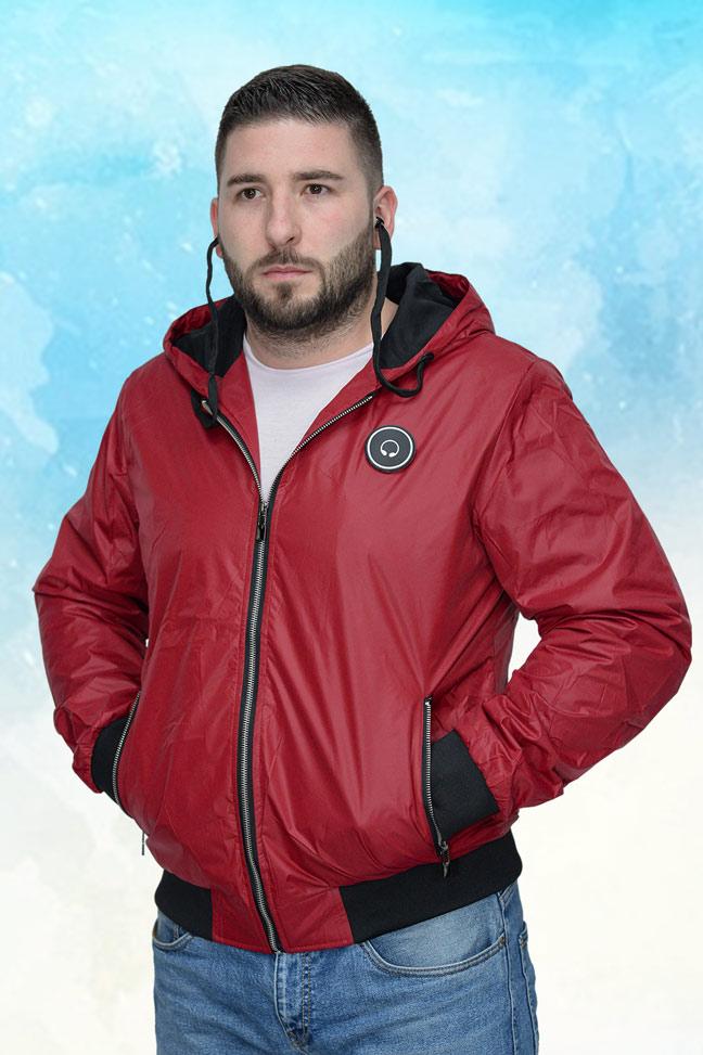 Muška prolećna jakna – Sportska i Casual – 4329 – Crvena