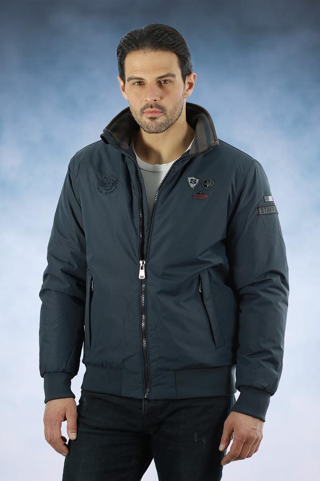 Muška zimska jakna - Sportska i Casual - Staff Colt - Teget