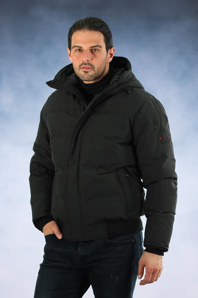 Muška zimska jakna - Sportska i Casual - Staff Trevis - Crna