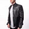 Muška kožna jakna - Ricky - Crna