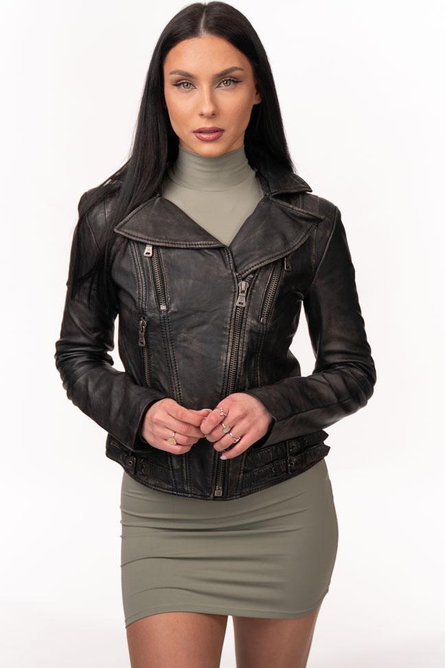 Ženska kožna jakna - Fratteli Linda - Crna