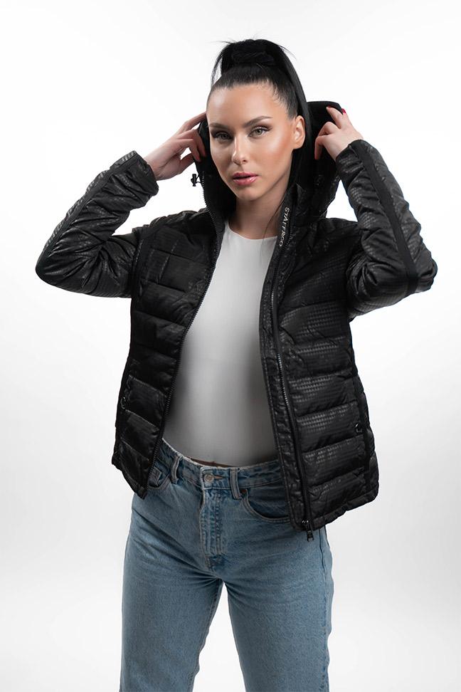 Ženska prolećna jakna - Sportska i Casual - Staff Robin - Crna