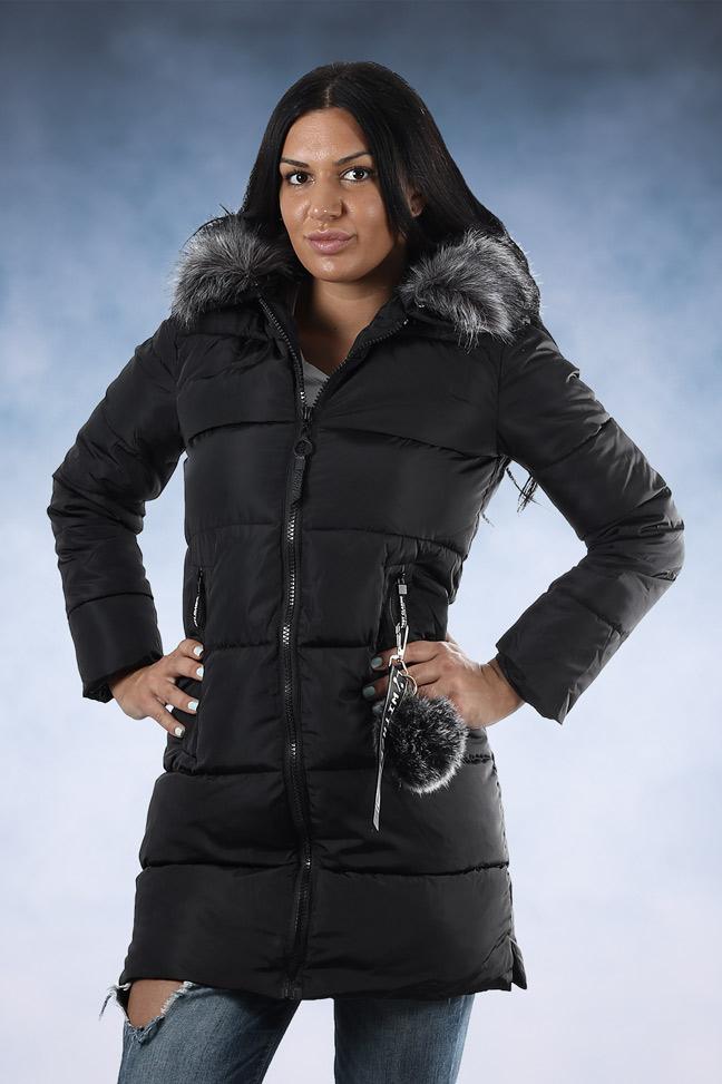Ženska zimska jakna - Sportska i Casual - 006 - Crna 2